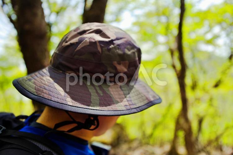 迷彩柄の帽子の写真
