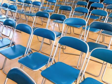 진열 된 의자