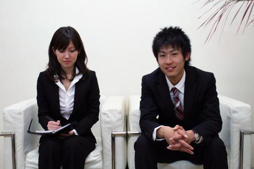 Men and women negotiating
