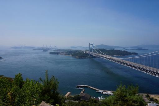 Superb view of the Seto Ohashi bridge
