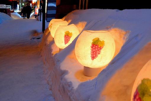 Lantern 1 of Otaru Snow Light Road