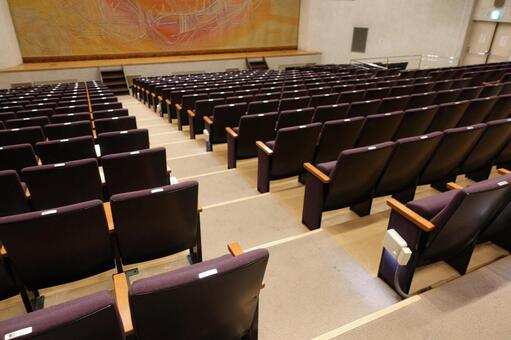 The auditorium in the hall