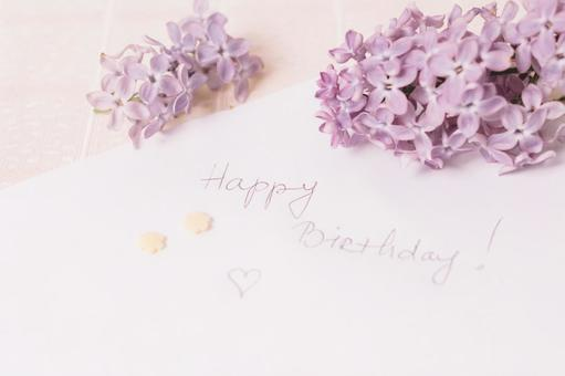 Birthday celebration message with lavender