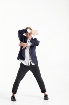 Male dancer who decides pose 19