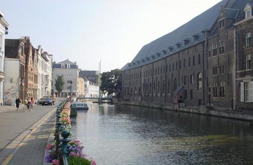 벨기에 겐트의 수로