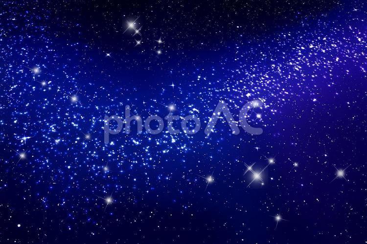 天の川銀河と星空の写真