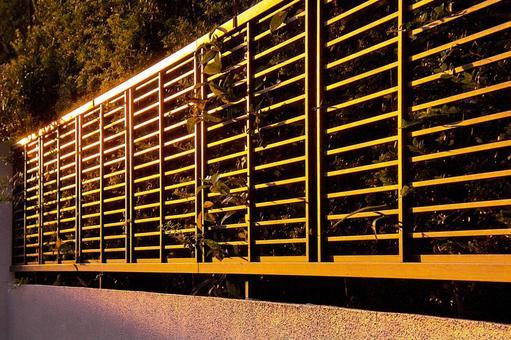 Landscape garden fence