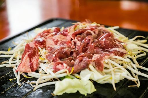 Genghiskan, grilled meat