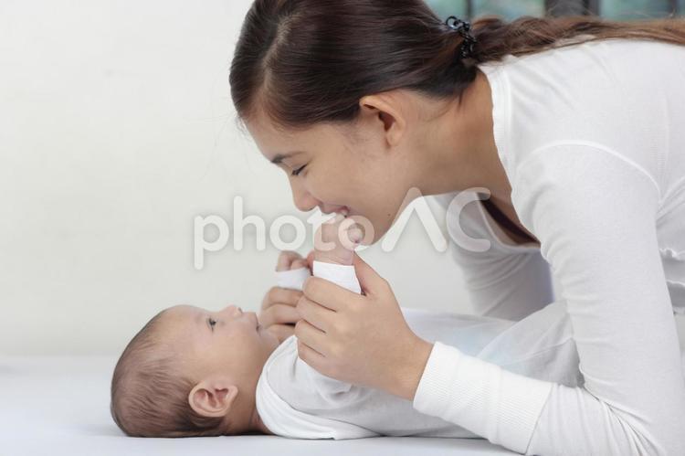 外国人の母子13の写真