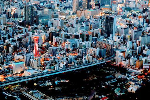 오사카의 야경