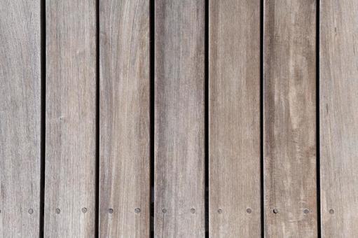 ウッドデッキ、ナチュラルな木目のテクスチャ画像
