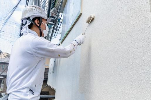 Exterior wall painting