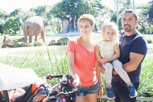 家庭1,看大象在动物园