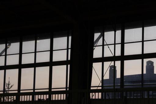 School gym window