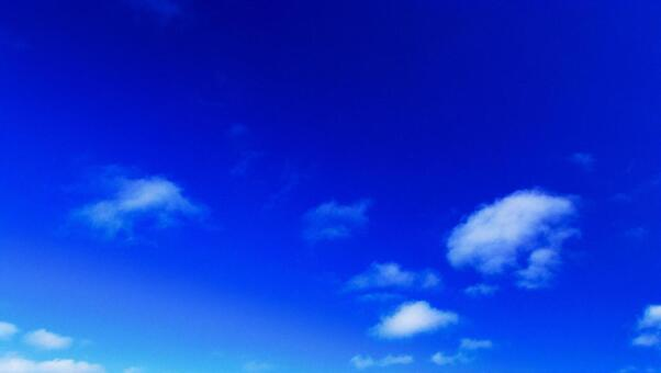 Refreshing blue sky