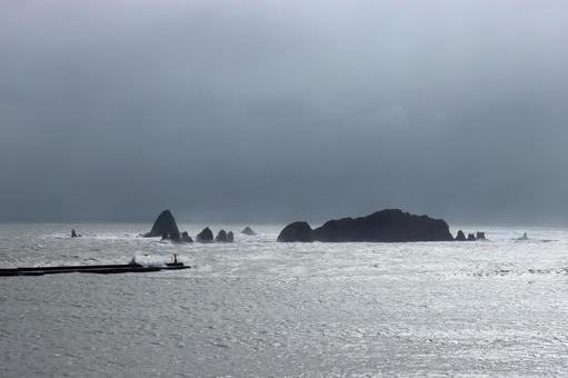 태풍의 풍경 니치 난 해안