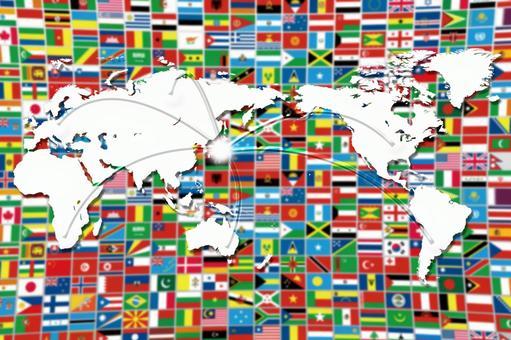 세계의 국기와지도