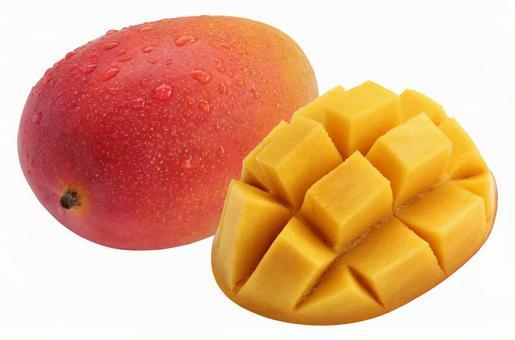 Apple mango (PSD has transparent background and cutout path)