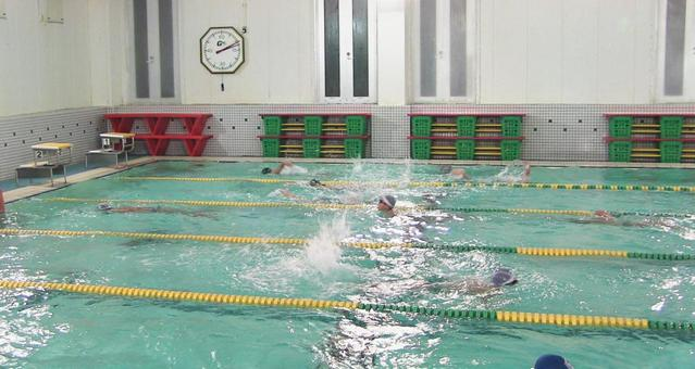 Swimming school sight