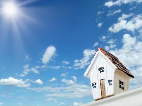 House model under the blue sky