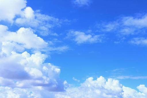 夏日雲彩的美麗天空背景