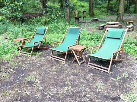 갑판 의자, 정원 의자