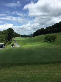 Summer golf course