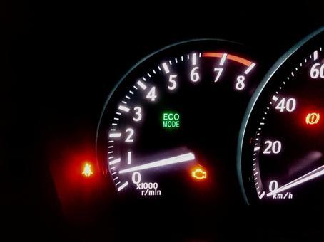 Car meter panel tachometer