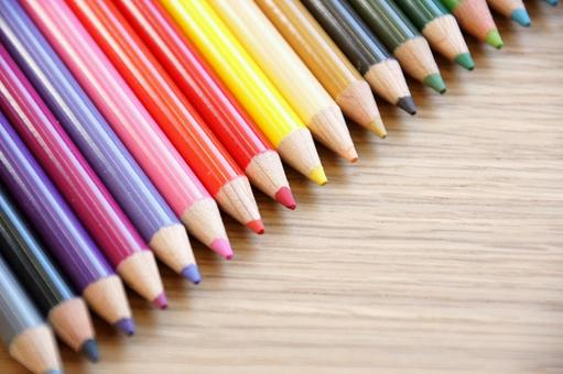 Set of colorful colored pencils