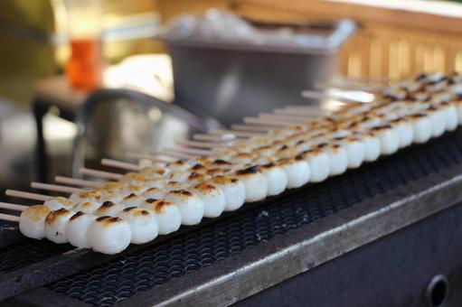 Mitarashi dumplings, Japanese sweets, dumplings