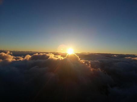 Sunrise from Mt. Fuji (1)