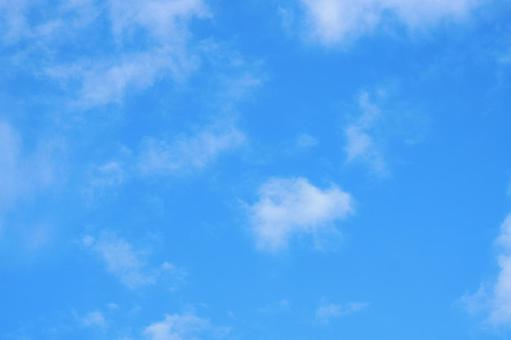Blue sky with clouds Title space available Sky background material