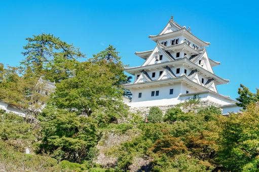 Gujo Hachiman Castle located on the mountain
