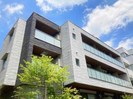 Background material for the exterior of the condominium_c_18
