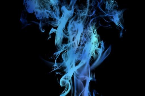 Ideal for pastel smoke frames Blue color Black background