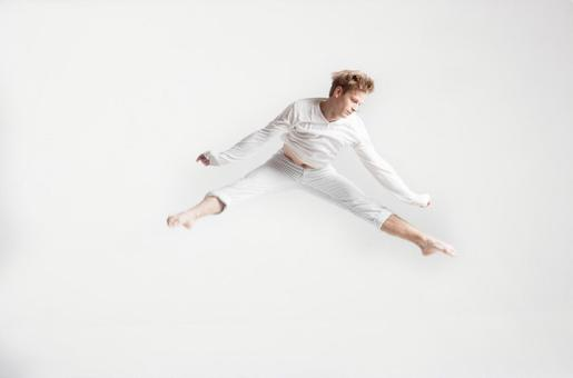 Jumping male dancer 2