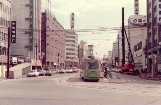 Sapporo station square tram in the 1965's
