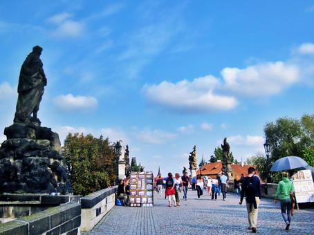 Charles Bridge and Saint Statue