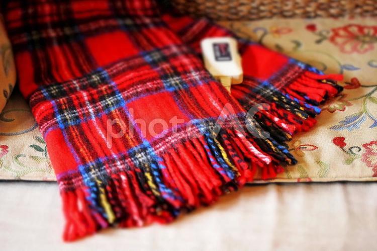 電気ひざ掛け ブランケット 電気毛布の写真