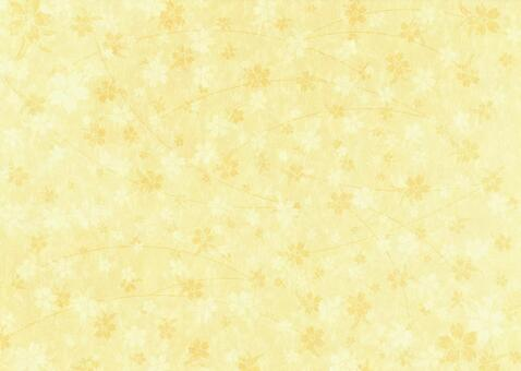 Cherry texture on Japanese paper _ yellow
