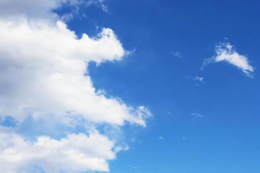 푸른 하늘과 구름