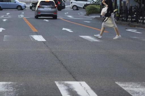 Woman crossing