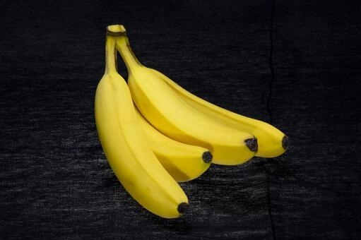 Banana black background