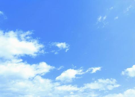 Bright blue sky Cloud sky image