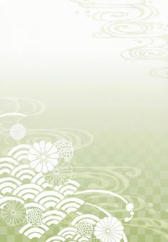 Background (Japanese pattern 1 vertical / green)