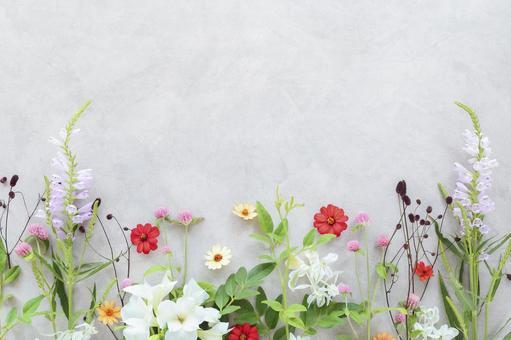 Autumn color botanical frame
