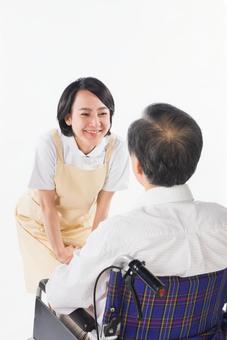 Nurse and wheelchair male 16