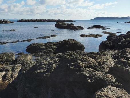 바다의 바위