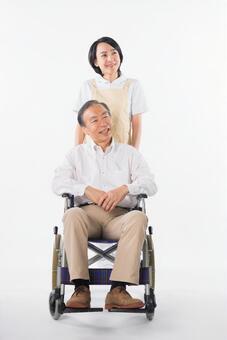 Men and nurses on a wheelchair 29