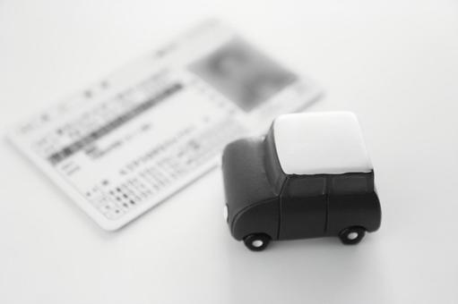 Driver's license monochrome